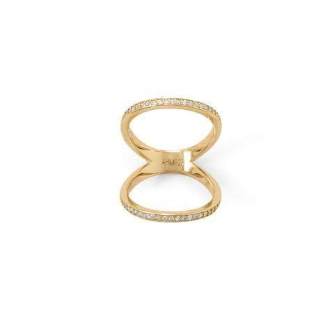 Gold Plated Double Band Knuckle Ring