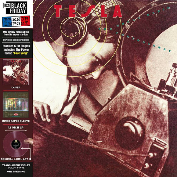 TESLA <br><i> THE GREAT RADIO CONTROVERSY [Translucent Violet Color Vinyl] LP</I><br>