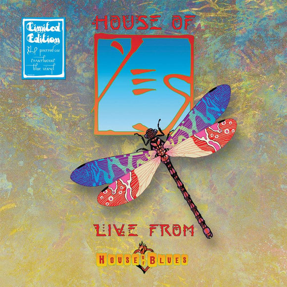 YES <BR><I> HOUSE OF YES: LIVE FROM THE HOUSE OF BLUES [Limited Edition Blue Vinyl] 3LP</I><br>