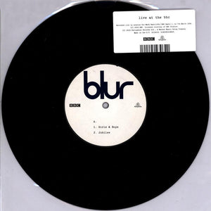 "BLUR<BR><I>LIVE AT THE BBC 10"" EP</I>"