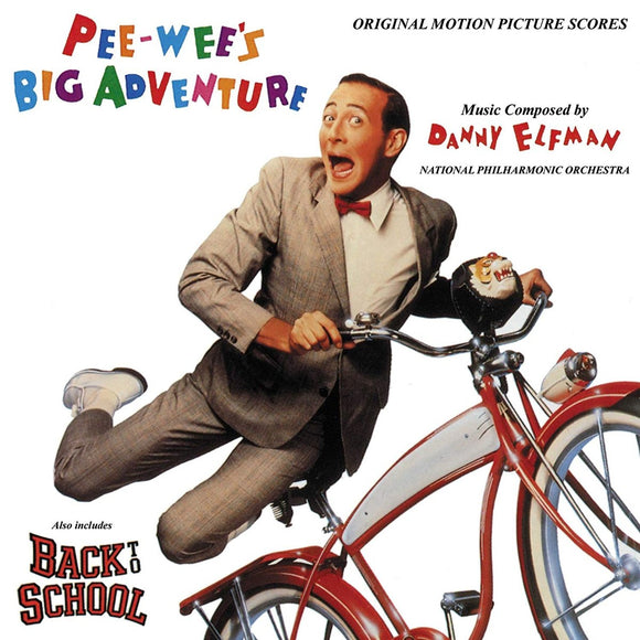 ELFMAN, DANNY <BR><I> PEE-WEE'S BIG ADVENTURE / BACK TO SCHOOL (ORIGINAL MOTION PICTURE SCORES) LP</I>