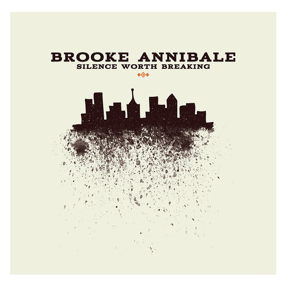 ANNIBALE, BROOKE <BR><I> SILENCE WORTH BREAKING [Limited Orange Vinyl] (ARTIST SIGNED) LP</I>