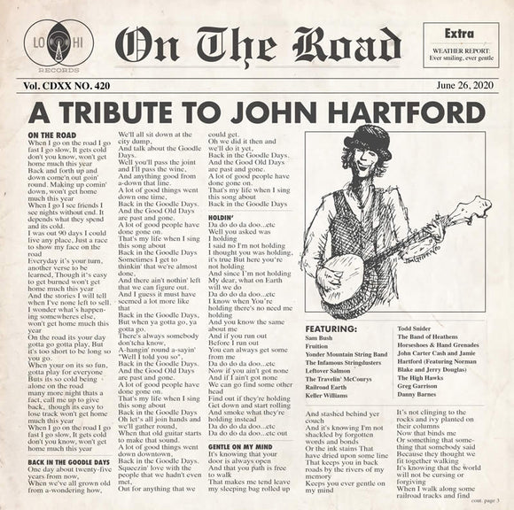 VARIOUS ARTISTS <BR><I> ON THE ROAD: A TRIBUTE TO JOHN HARTFORD 2LP</I>
