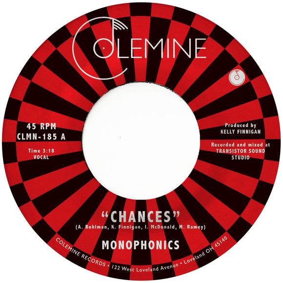 MONOPHONICS<br> <I>CHANCES [Green Vinyl] 7