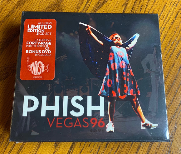 PHISH <BR><I> VEGAS 96 (Limited Edition 3CD + 1DVD Set) 3CD</I>