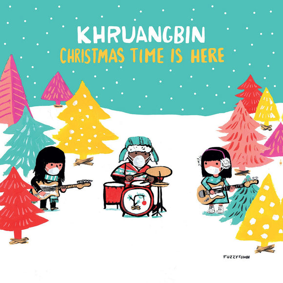 "KHRUANGBIN <BR><I> CHRISTMAS TIME IS HERE / CHRISTMAS TIME IS HERE (VERSION MARY) [Indie Exclusive Red Vinyl] 7""</I>"
