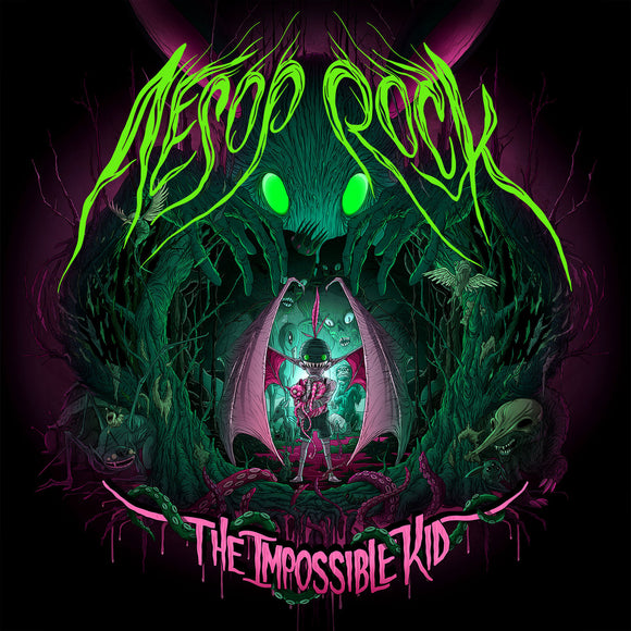 AESOP ROCK <BR><I> THE IMPOSSIBLE KID [Green & Pink Neon Color Vinyl] 2LP</I>