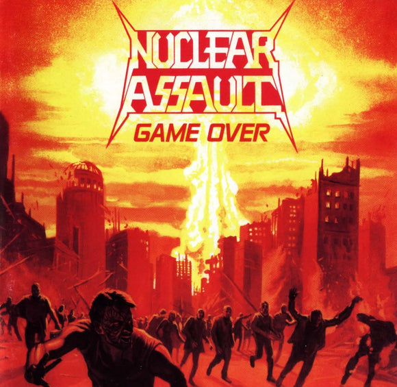 NUCLEAR ASSAULT <BR><I> GAME OVER [Indie Exclusive Ultra Clear w/ Orange Crush Splatter Vinyl] LP</I>