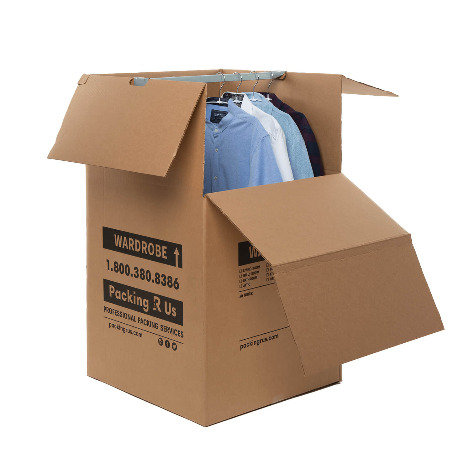 "Wardrobe Moving Box - 24"" x 24"" x 40"""