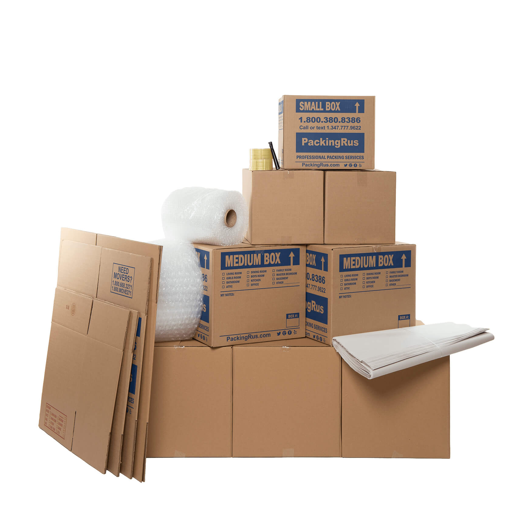 Economy Moving Boxes Kit (Small) | Kits | Packing R Us | NYC
