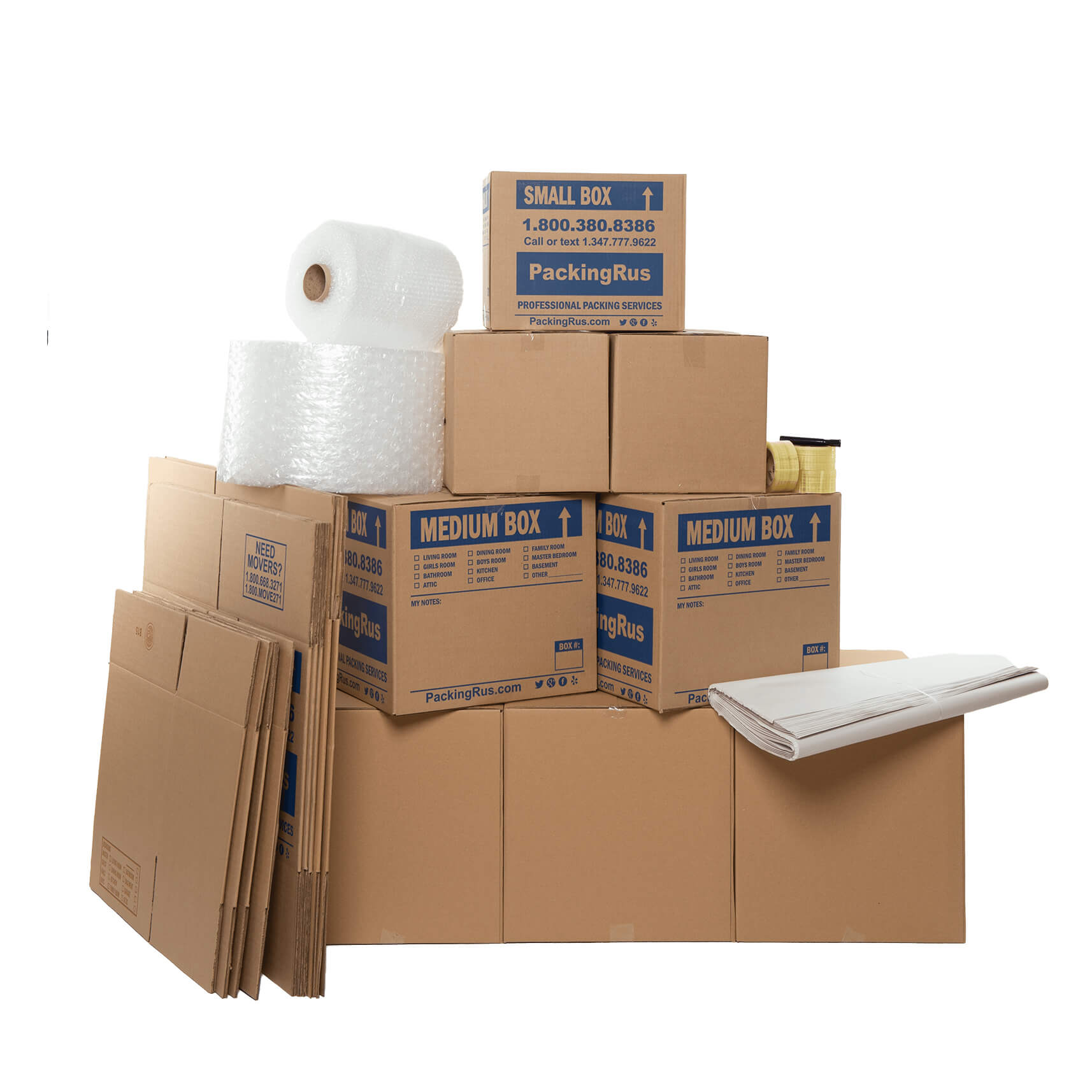Economy Moving Boxes Kit (Medium) | Kits | Packing R Us | NYC