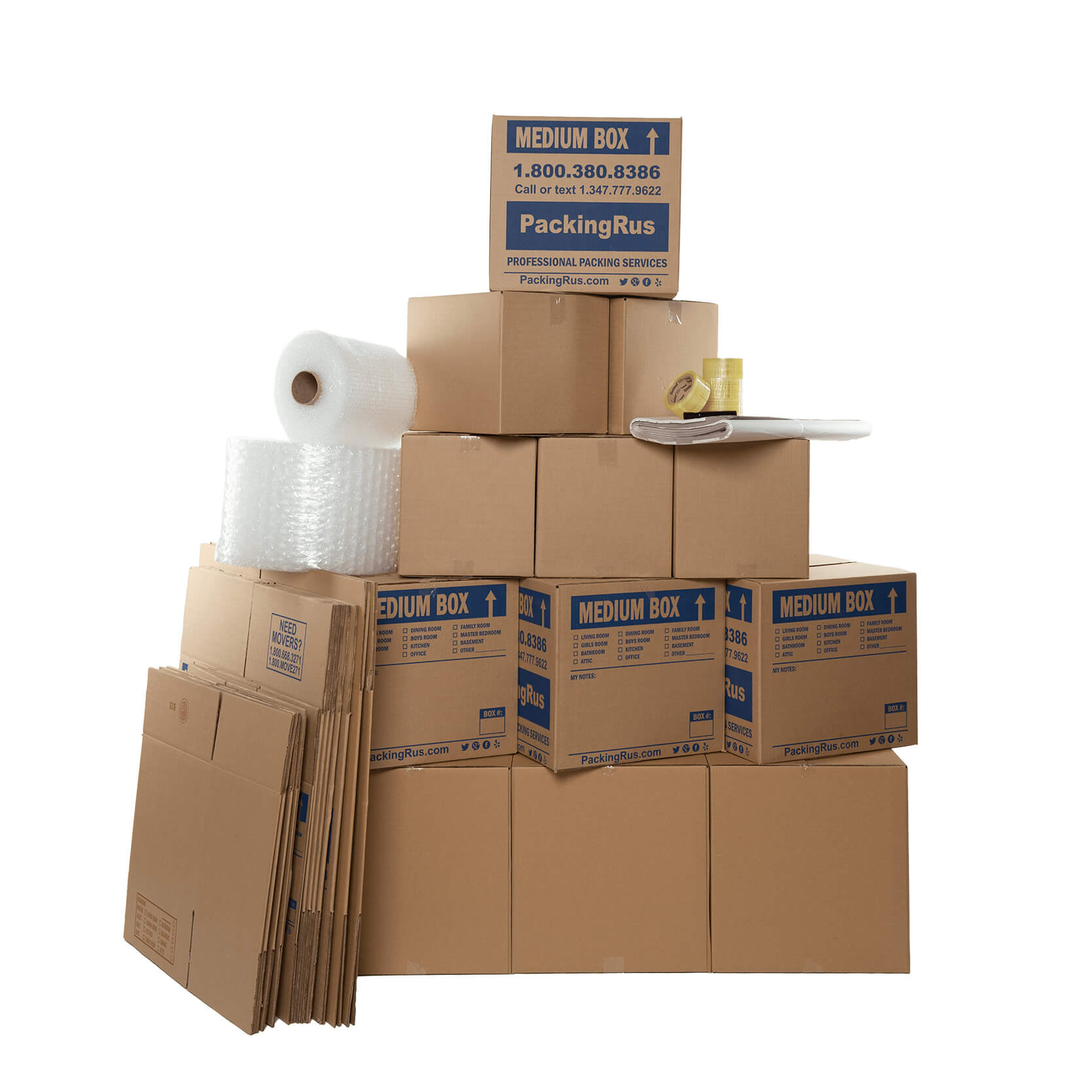 Economy Moving Boxes Kit (Large) | Kits | Packing R Us | NYC