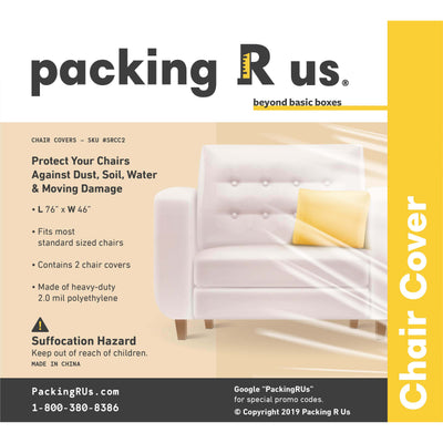 Clear Plastic Chair Cover Bag Packing R Us Moving Packing Shipping Storing Supplies