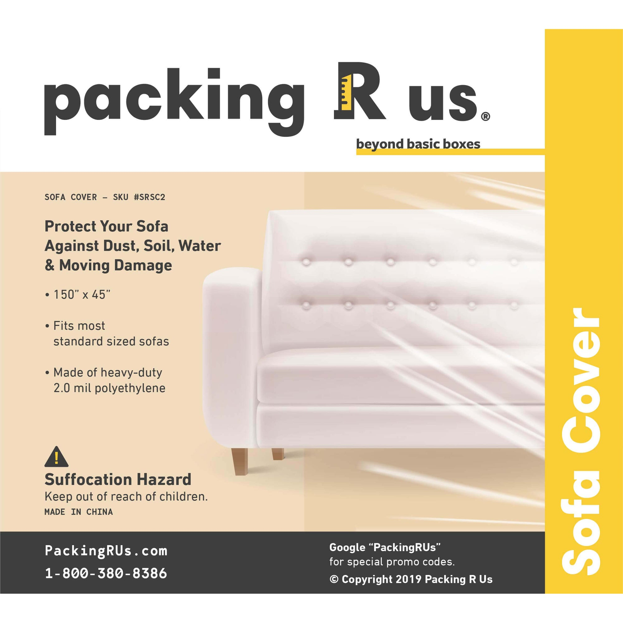 Clear Plastic Sofa Cover Bag Packing R Us Moving Packing Shipping Storing Supplies