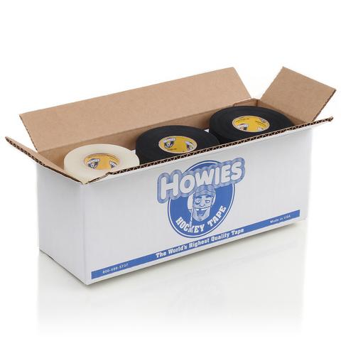 Howies Hockey Tape - 6 Black Cloth & 6 Clear Shin Pad