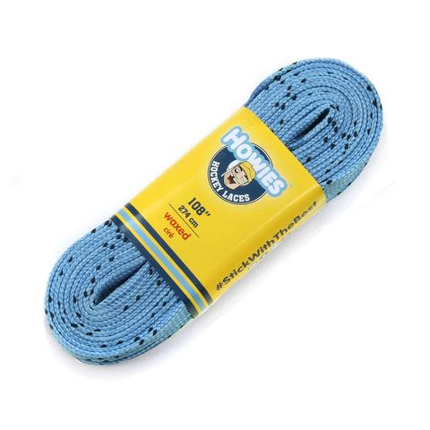 Howies Sky Blue Waxed Hockey Skate Laces