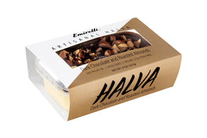 Emirelli Artisanal Halva Dessert - Dark Chocolate and Roasted Almonds