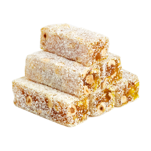Coconut, Lemon, Hazelnut Turkish Delight