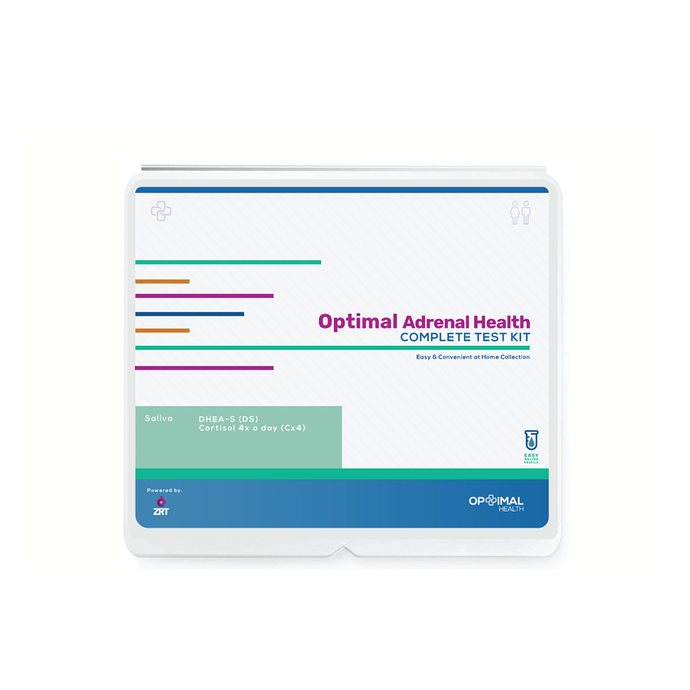 Optimal Adrenal Health - Complete - Easy & Convenient At Home Lab Test Kit Saliva Collection