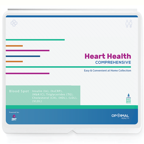 Optimal Heart Health - At Home Heart Health (CardioMetabolic) Test Kit - Comprehensive