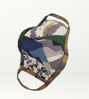 Multi color with beige S Mask - Non-medical
