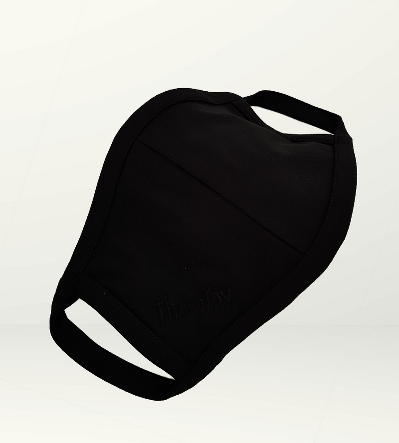 Black crepe S Mask - Non-medical