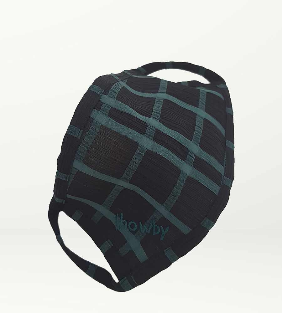 Black and green S Mask - Non-medical