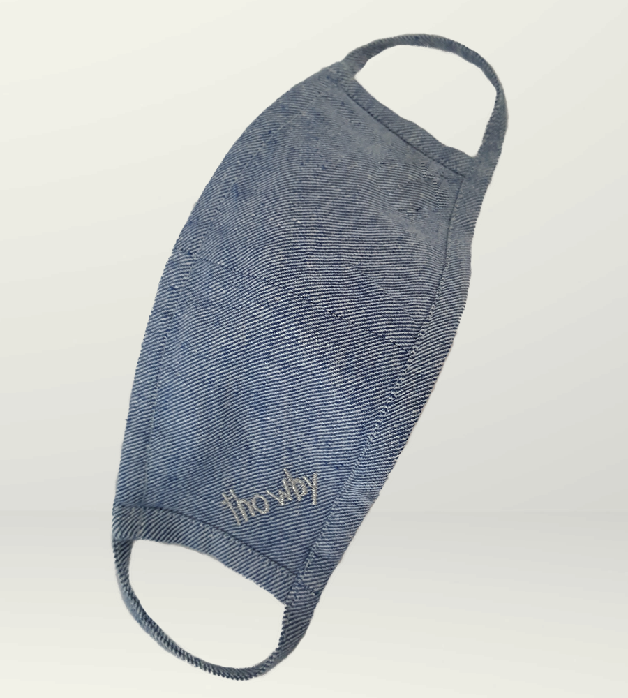 Light blue jeans S Mask - Non-medical