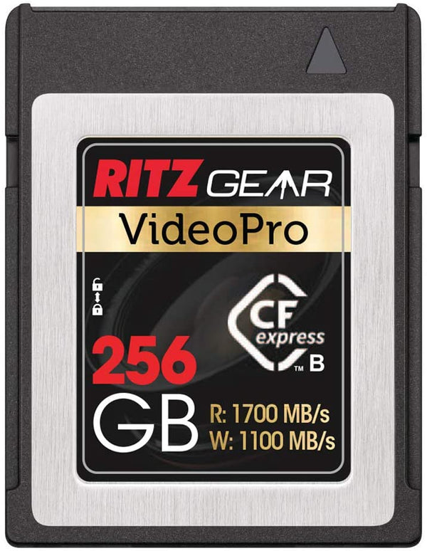 Ritz Gear Video Pro CFExpress Card 256GB Type B (1700/1100 R/W) Pairs with Compatible Nikon, Panasonic, Canon & Sony DSLR/Mirrorless Cameras
