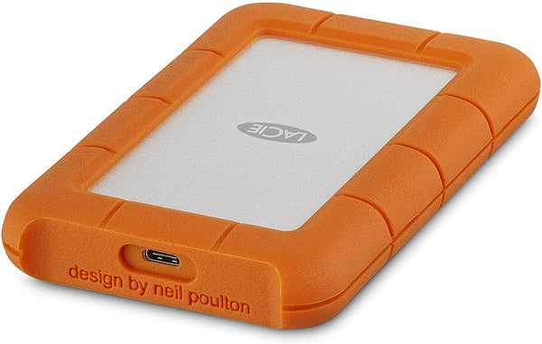 LaCie Rugged 2TB USB-C and USB 3.0 Portable Hard Drive
