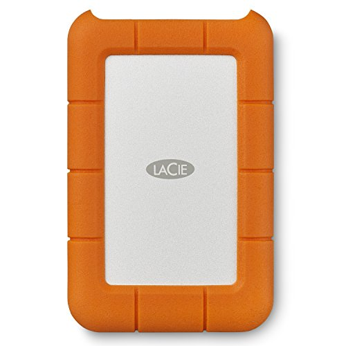 LaCie Rugged 1TB USB-C and USB 3.0 Portable Hard Drive