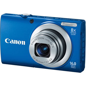 Canon PowerShot A4000 IS Compact Digital Camera (Blue)