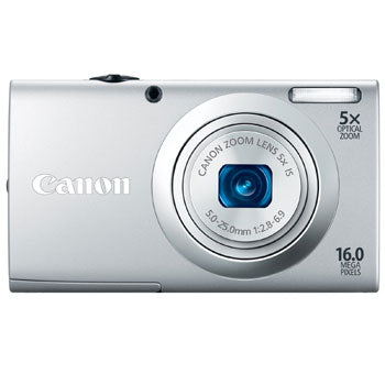 Canon PowerShot A2400 IS Compact Digital Camera (Silver)