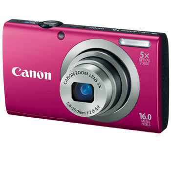 Canon PowerShot A2300 Compact Digital Camera (Red)