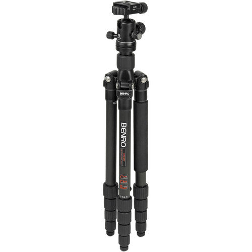 Benro Travel Flat Tripod w-Ball HeadHD Carbon Fiber Twist-Lock Legs