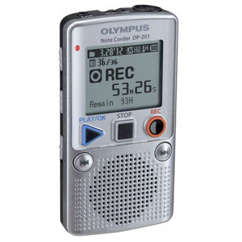 Olympus DP-201 Recorder W-Battery (Silver)