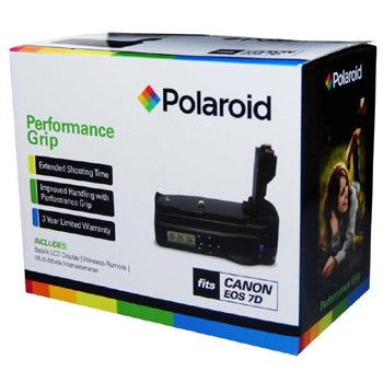 Polaroid Wireless LCD Display Performance Battery Grip for Canon 7D