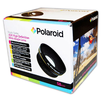 Polaroid Studio Series 58mm .43x High Definition Wide Angle Lens