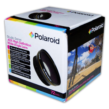 Polaroid Studio Series 72mm .43x High Definition Wide Angle Lens