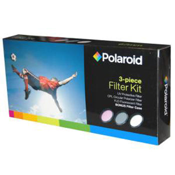 Polaroid Optics 30.5mm 3 Piece Camera Lens Filter (UV, CPL, FLD)