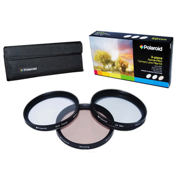 Polaroid 37mm 3 Piece Special Effect Camera-Camcorder Lens Filter Set
