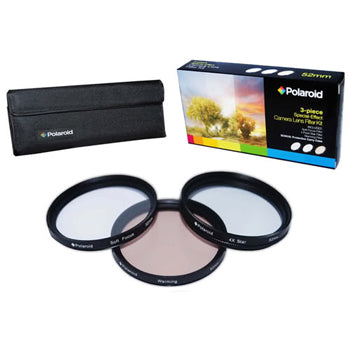 Polaroid 43mm 3 Piece Special Effect Camera-Camcorder Lens Filter Set