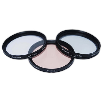 Polaroid 46mm 3 Piece Special Effect Camera-Camcorder Lens Filter Set