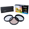 Polaroid 52mm 3 Piece Special Effect Camera-Camcorder Lens Filter Set
