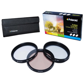 Polaroid 55mm 3 Piece Special Effect Camera-Camcorder Lens Filter Set