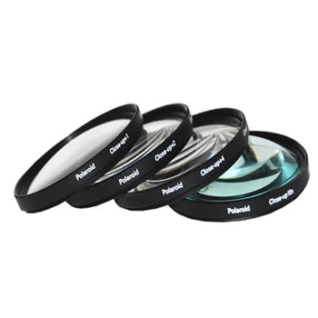 Polaroid 37mm 4 Piece Macro Filter Set (+1, +2, +4, +10 Diopters)