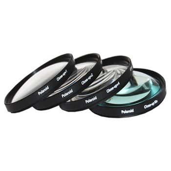 Polaroid 52mm 4 Piece Macro Filter Set (+1, +2, +4, +10 Diopters)