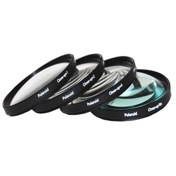 Polaroid 55mm 4 Piece Macro Filter Set (+1, +2, +4, +10 Diopters)