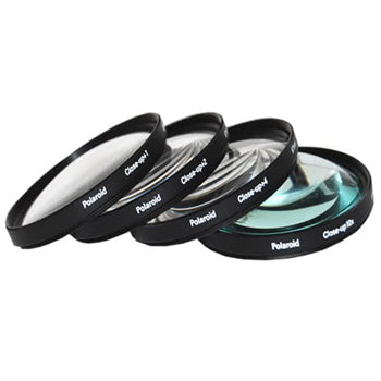 Polaroid 58mm 4 Piece Macro Filter Set (+1, +2, +4, +10 Diopters)