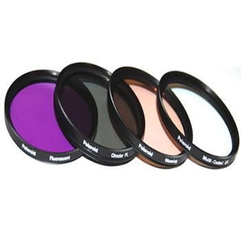 Polaroid 37mm 4 Piece Camera Lens Filter Set (UV, CPL, FLD, WARMING)